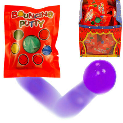 2 x BOUNCING PUTTY MAGIC STRETCH BALL TOYS BOYS GIRLS BIRTHDAY PARTY BAG FILLERS