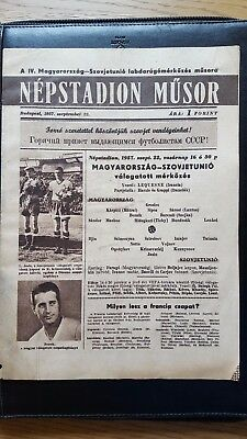 1957 Hungary vs Soviet Union Russia USSR in the Népstadion, Budapest: Very Rare!