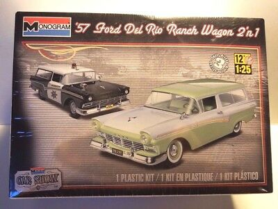 REVELL MONOGRAM 1957 Ford Del Rio Ranch Station Wagon 2n1 Plastic Model Kit  1/25