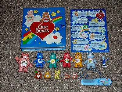 Vintage 1980s Care Bears Collectors Case with 10 Figures & Additional Swag Lot