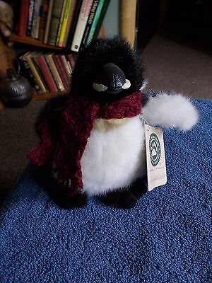 "Boyds Bears & Friends Willie Waddlewalk Penguin 7"" Plush Soft Stuffed Toy"