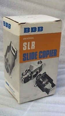 Universal SLR Slide Copier - Complete - Boxed with Manual - BDB Engineers