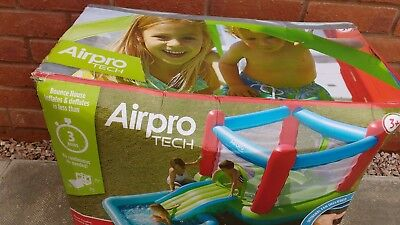 Airpro tech Bounce House which self inflates in less thanks 3 minutes.