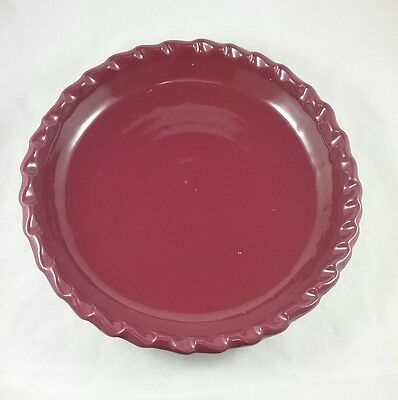 Bybee Pottery Pie Plate Red (Maroon)