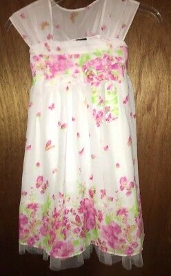 Holiday Edition Girl Size M 7-8 Pink And White With Flowers Easter Party Wedding