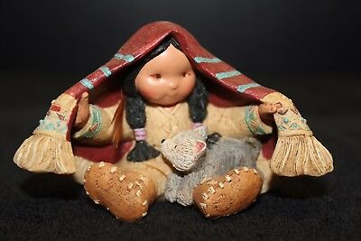 Enesco FRIENDS OF THE FEATHER figure Native American 'Brothers of the Earth' -EC