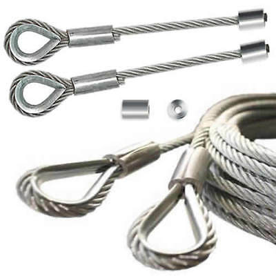 Industrial Sectional Over Head Door Lifting Cable Steel Wire Rope Metal Hoisting
