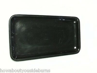 Deli restaurant bar black rectangular serving tray platter bowl one item AB9