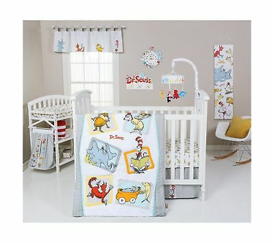 Trend Lab Dr. Seuss Friends 5 Piece Crib Bedding Set Multi New