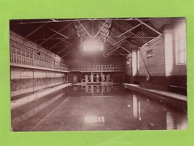 Indoor Swimming Baths Pool Malvern College RP pc unused T Bennett  Ref D480