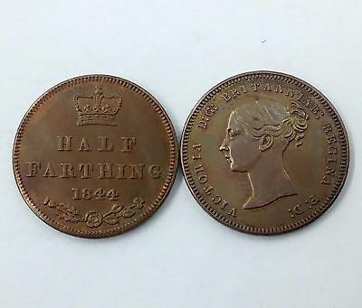 HALF FARTHING Ceylon VICTORIA D:G Young Bust-Rose - thistle and shamrock-1844