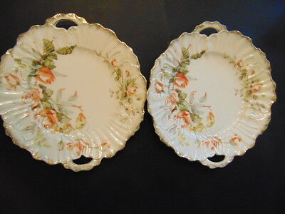 KPM Of Germany 458 Pattern Pair Of Serving Plates In Good Condition