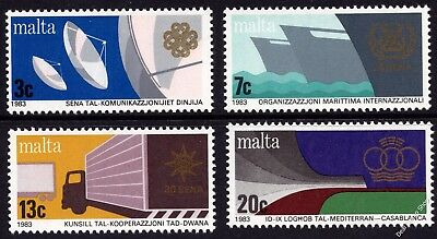Malta 1983 Anniversaries and Events Complete Set SG714 -717 Unmounted Mint