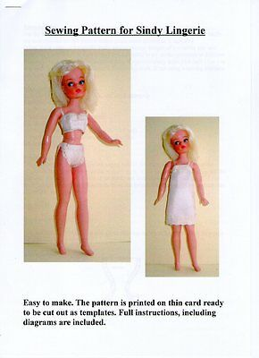 Sindy Sewing Pattern for Lingerie