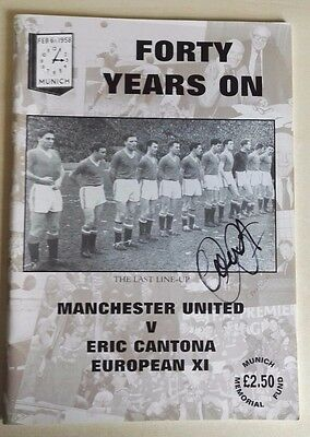Eric Cantona - Signed 1998 Manchester United 40 Years On Programme - Munich 1958