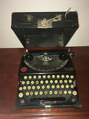 Antique 1922 Remington Model 1 Portable Typewriter with Original Case and Key !!