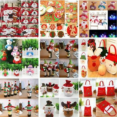 Santa Pants Christmas Candy Bags Red Wine Bottle Cover Gift Bag Xmas Decoration