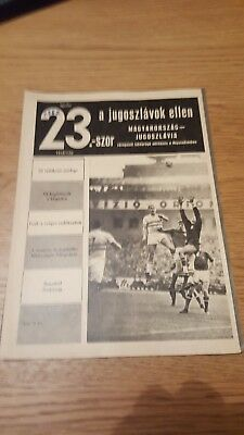 1967 Hungary vs Yugoslavia in the Népstadion, Budapest: official programme!!!