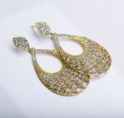 New Bollywood Elegant Indian Earrings In Gold
