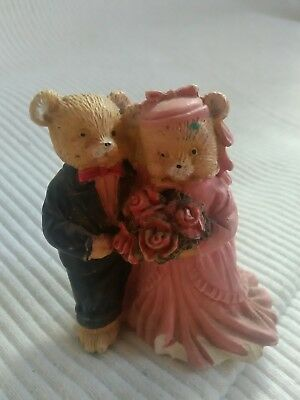 miniture bride and groom bear decorative ornament