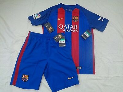 Nike Barcelona 2017 Home Shirt & Shorts Xl Boys Age 13 - 15 Years New With Tag