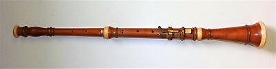 Antique double reed boxwood instrument oboe / hautbois 2 keys 22 inches long
