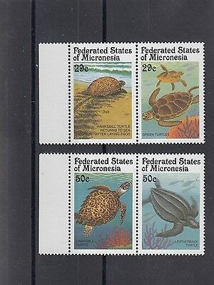 Timbre Stamp  4 Micronesie Y&t#164-67 Tortue Turtle Neuf**/mnh-Mint 1991 ~A25