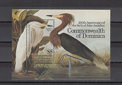 Timbre Stamp Bloc Ile Dominica Y&t#97 Oiseau Bird  Neuf**/mnh-Mint 1985 ~A45