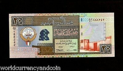 Kuwait 20 Dinars P28 1968 1994 Arab Boat Sign 14 Falcon Unc Gulf Currency Note