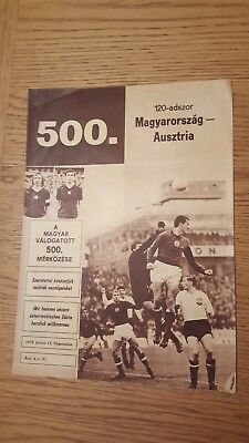 1976 Hungary vs Austria in the Népstadion, Budapest: Hungary's 500th match!!!