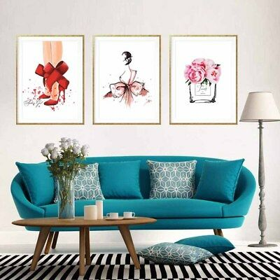 Fashion Pretty Girls Cosmetic Canvas Print Poster Home Wall Decor Art Painting