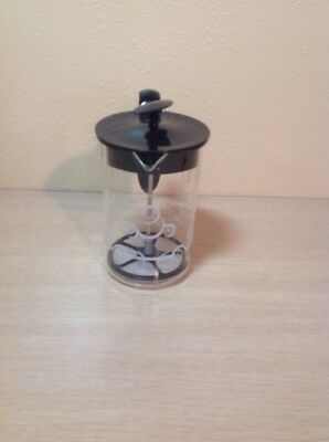 Bodum Clear Glass Black Top Milk Frother