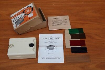 Vintage Electric Stamp Watermark Detector - The Philatector. Made in England.