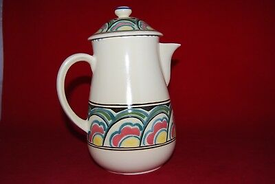 Honiton Devon Pottery COFFEE POT Hand Painted.