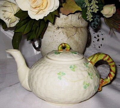 Belleek Shamrock - Small Teapot