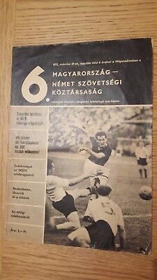 1972 Hungary vs West Germany in the Népstadion, Budapest: official programme!!!