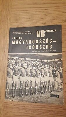 1969 Hungary vs Republic of Ireland World Cup qualifier: Official programme!!!