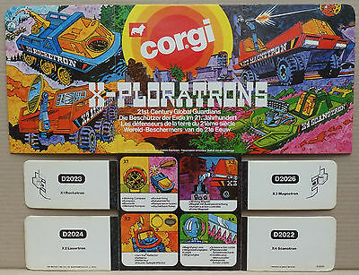Corgi Toys - X-Ploratrons original shop counter display point of sale card sign