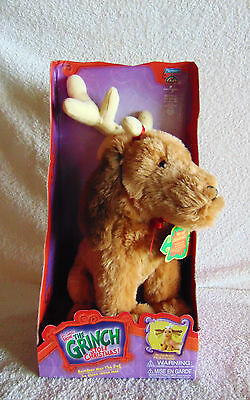 How the Grinch Stole Christmas Reindeer MAX the Dog - Dr. Seuss, Playmates - New