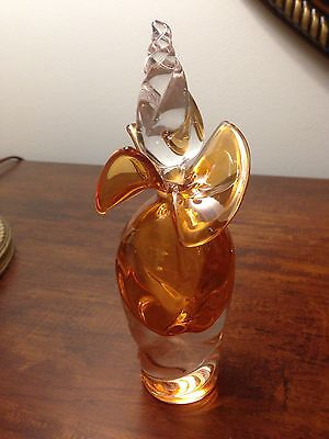 Art Glass Perfume Bottle Signed by the Artist Light Orange