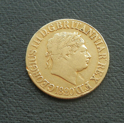 1820 George III Sovereign CLOSED 2 -- 0.916 Gold Sp3785 - F