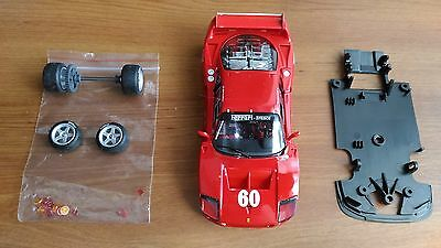Ferrari F40 Jean Alesi 1989 Laguna Seca 1:32 Fly Slot Car Kit Parts