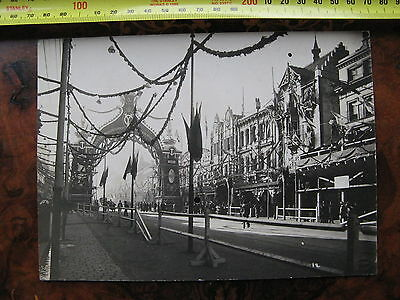 Bourke St  Arch Royal Vistit to Melbourne  Collins St 1901 Victoria Australia