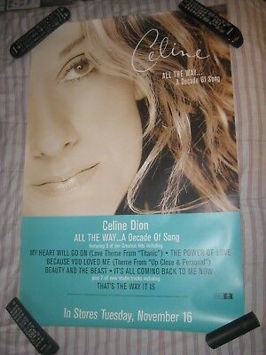 Celine Dion-All The Way-A Decade Of Song-1 Poster-24X36 Inches-Excellent-Rare!!!