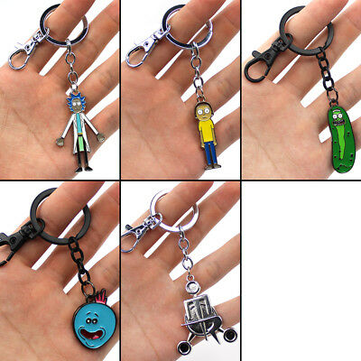 Pickle Rick and Morty Council of Ricks Pendant Keychain Keyring Cosplay Gift Hot