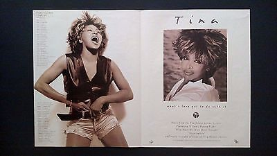 """Tina Turner """"what's Love Got To Do With It"""" Rare Original Print Promo Poster Ad"""