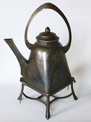 SZANDRIK  Sandrik Art Nouveau Silverplated Kettle, marked Hungarian Slovak