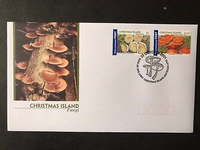 Christmas Island 2001 International Stamps Fungi First Day Cover
