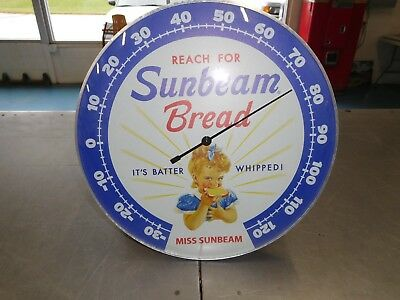 Sunbeam Bread Thermometer Round Glass Front