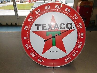 Texaco Thermometer Sign Round